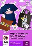 Transferpapier/Bügelpapier/Transferfolie für DUNKLE Textilien/Stoffe von Raimarket | 10 Blatt | A4...