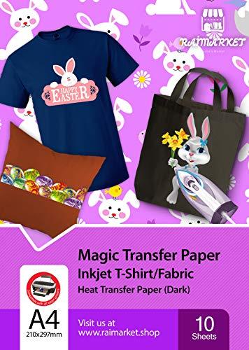 Hierro papel transferencia tela oscura Magic Paper