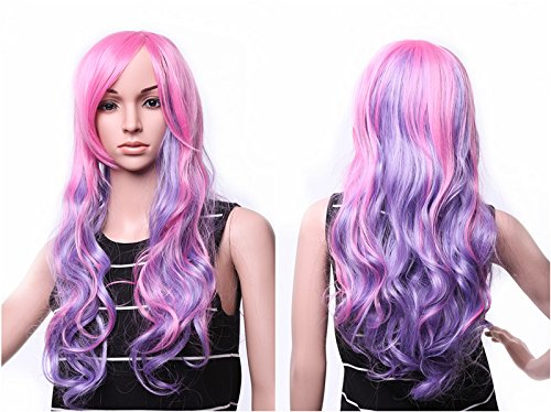 """SWACC 22"""" Long Wave Curly Ombre Multi-color..."""