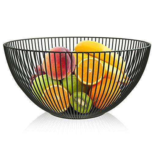 Jroyseter Fruit en Fer forgé Panier avec Grande capacité de Stockage Bol Design Panier pour Fruits légumes Collations Bonbons Creative Fer Forgé Fruit Basket Outil