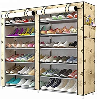 Sterling Shoe Racks for Home, Shoe Rack with Cover 12 Layer Multipurpose Shoes Stand for Shoe Storage Organizer Double Sho...