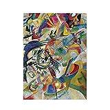 QsuNa Composición Vii 500 piezas rompecabezas de madera rompecabezas de la imagen del rompecabezas para adultos y adolescentes