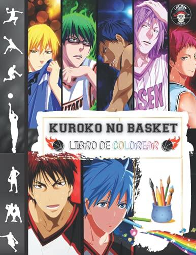 Kuroko No Basket Libro de Colorear: Libro para Colorear de Baloncesto Anime con Personajes de