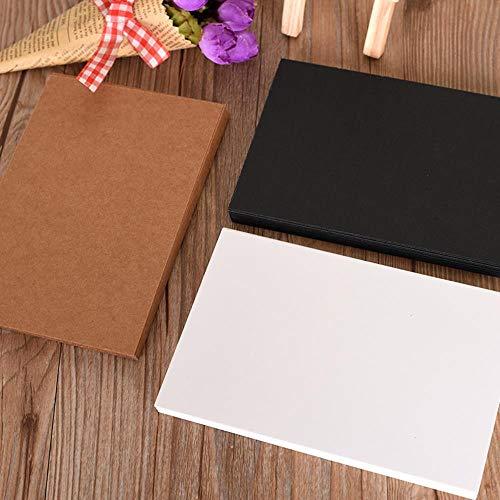 HSC 20 Kraftpapier Blank Postcards Business Black/White Paper Postcards Greeting Card, Einladungen, Karten oder Letterpress schwarz