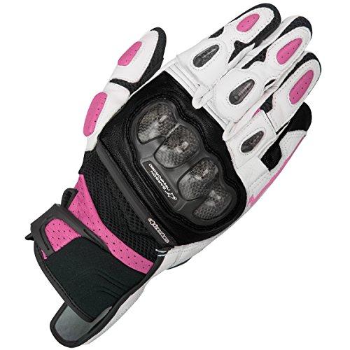 Alpinestars Motorrad-Damen-Handschuhe Stella SPX Air Carbon pink/schwarz, BLACK WHITE FUCHSIA, XS
