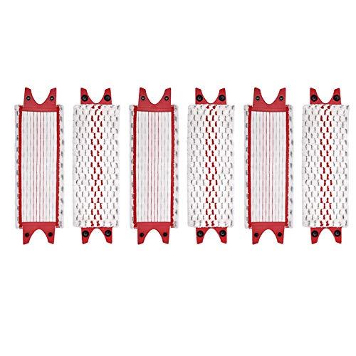 Vasko 6 piezas compatibles con Vileda Ultramax Mop repuesto microfibra cabeza trapeador plana paño