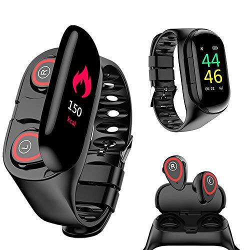 Wireless Bluetooth Earbuds Smartwatch--Best 2-in-1 smartwatch under $50
