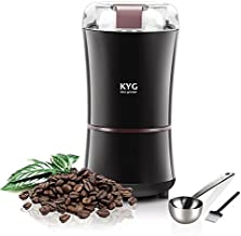 KYG Coffee Grinder, Electric Grinder for Flaxseed, Nut, Pepper, Seeds, Spice Grinder Electric 300W with Stainless Steel Blades