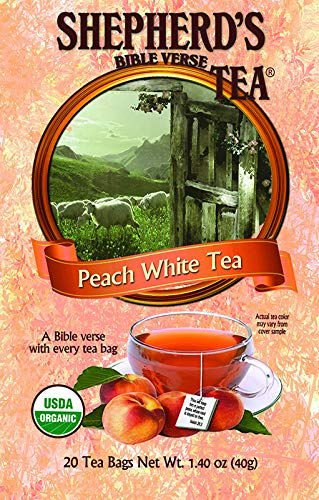 Organic Peach White Bible Verse Tea