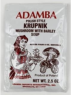 Adamba Polish Style Krupnik Mushroom with Barley Soup Mix 3-Pack