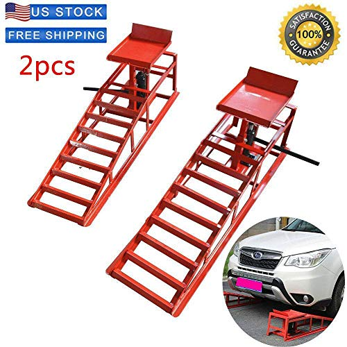 SuxiDi Heavy Duty Auto Car Truck Service Ramps Lifts 10,000lbs Capacity HD Hydraulic Lift for Car Repair [US Stock] (A Pair)