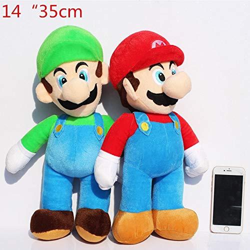 1 stks middelgrote 14 inch 35 cm super mario luigi knuffel zachte poppen voor kinderen hoge kwaliteit gratis verzending, 1 stks mario