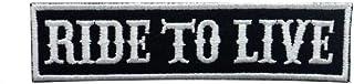 """KUSTOM FACTORY - Toppa con scritta """"Ride to Live"""", colore: Nero"""