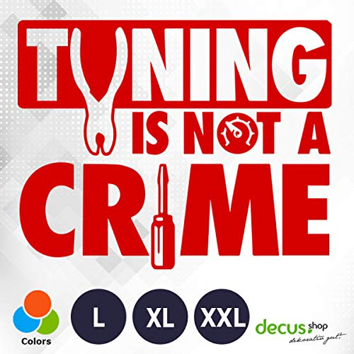 Decus Tuning is not a Crime XXL 0201 (rot) // Sticker OEM JDM Style Aufkleber