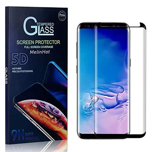 MelinHot Verre Trempé pour Galaxy S8 Plus, HD Ultra Transparent Protection en Verre Trempé Écran pour Samsung Galaxy S8 Plus, Dureté 9H, Installation Facile, 1 Pièces