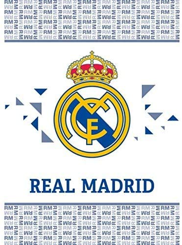 Sibiles Real Madrid Manta Polar Sofá Invierno 110x140 cm con Licencia Oficial del Club RM191040