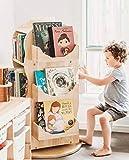 ALIPC 360 ° Revoluciones de niños Reservar Estante Bookrack para estantería de Almacenamiento Niños Muebles de la Escuela Muebles de la Sala de Estar