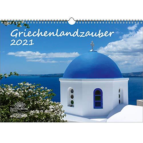 Griechenlandzauber DIN A3 Kalender für 2021 Griechenland - Geschenkset Inhalt: 1x Kalender, 1x Weihnachtskarte (insgesamt 2 Teile)