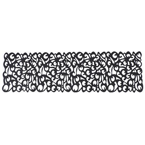 GARNECK 1 pc Chemin de Table élégant Style Nordique Noir Mode Accessoires de Bureau Nappe Creuse décor de Table pour Restaurant fête à la Maison