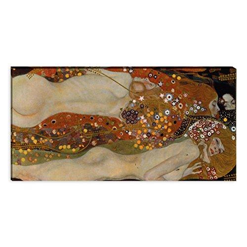 Wandkings Leinwandbilder von Gustav Klimt - Wähle ein Motiv & Größe: 'Wasserschlangen II' - 120 x...