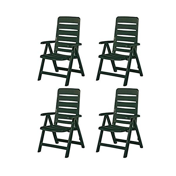Kettler 4 Nizza Gartenstühle Sessel Gartenmöbel Klappsessel in grün