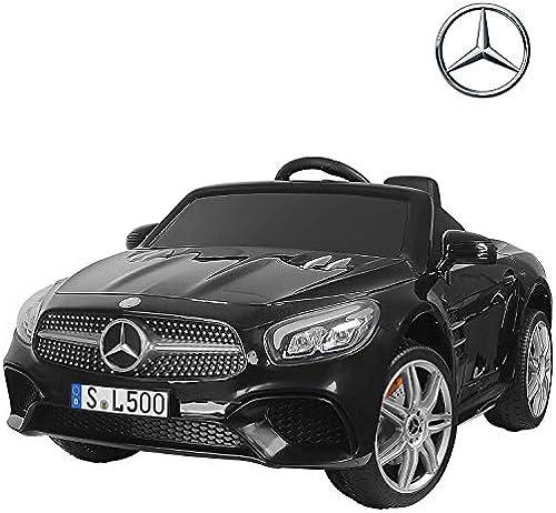 UEnjoy Mercedes-Benz Kinderauto Kinderfahrzeug Elektro Spielzeug 12V Lizenziert SL500 AMG Roadster Kinder Fahrt-on Auto Electric w   Fernbedienung 3 Geschwindigkeiten LED-Leuchten,Schwarz