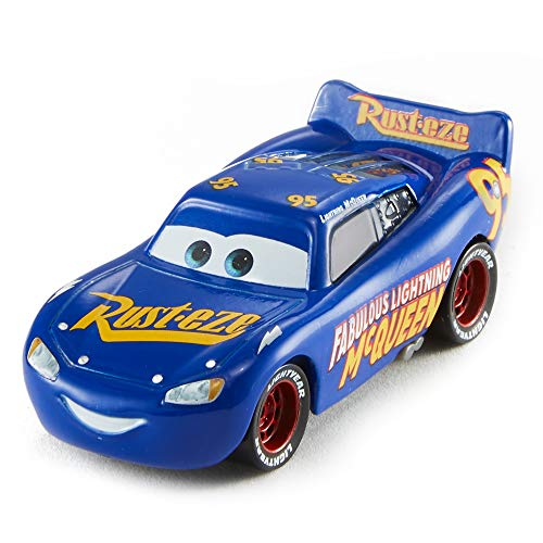 Disney Pixar Cars petite voiture Le Fabuleux Flash McQueen bleue, jouet pour enfant, FGD57