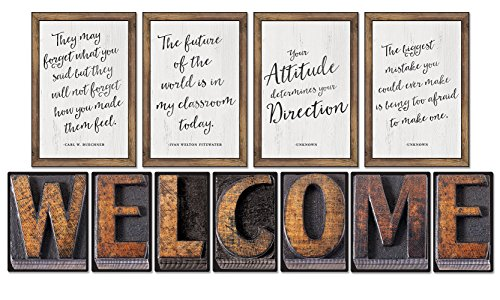 Schoolgirl Style - Industrial Chic | Welcome Bulletin Board, Classroom Décor, 11 Pieces