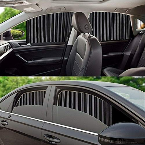 Abhsant Car Side Window Sunshade - Rear and Front Magnetic Sun Shade for Baby Passenger Retractable Foldable Protection Upgraded Version Curtains