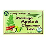 MORINGA APPLE CINNAMON TEA - USDA Organic - Nature´s Most Potent Botanical for Nutrients, Vitamins...