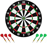 Dartboard comes with 6 professional training darts. Compete with friends and family to see who can score for each other. Enhance your darts skills with this amazing dartboard kit. Unique metal bracket protection design Each metal strip is protected b...