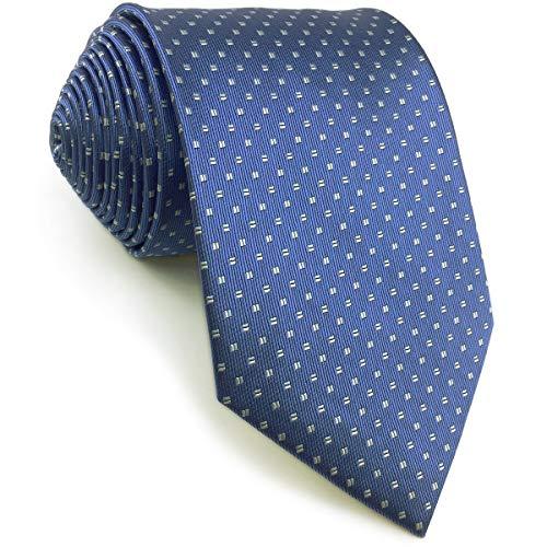 S&W SHLAX&WING Puntos Corbatas Para Hombre Azul Set Nuevo Diseño with Pañuelo De Bolsillo