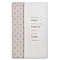 Blessing Food Family Love Oatmeal Flax 28 x 18 Cotton and Linen Tea Dish Towel