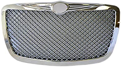 Fit 2004-2010 Chrysler 300 300C Mesh Bently Front Bumper Grille Grill Badgeless Chrome