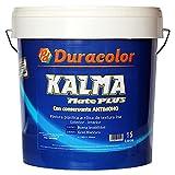 Pintura Kalma Mate Plus - Color blanco - 15 Litros - Pintura Plástica Acrílica de Textura Lisa y Acabado Mate - Aplicación Exterior e Interior - Duracolor