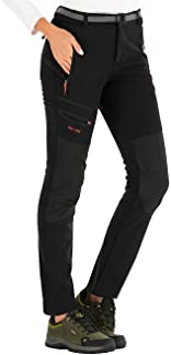 comprar comparacion DAFENP Pantalones Trekking Mujer Invierno Impermeables Pantalones Termicos Montaña Senderismo Esqui Nieve Polar Forrado Ai...