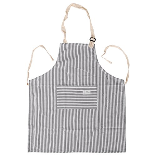 Runrain Herren Damen Kochschürze Küche Restaurant Chef Verstellbare Latzschürze Kleid mit Tasche