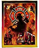 Personalized Blanket, Firefighter Sherpa Fleece Throw Blanket New Year Gift to My Son Daughter Niece Nephew (47x35, 60x45, 70x53, 80x60 Inches)