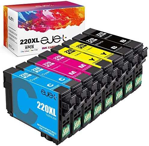 ejet Remanufactured Ink Cartridge Replacement for Epson 220 XL 220XL T220XL Used for WF 2760 product image