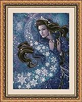 """5Dダイヤモンド絵画、星の女神-子供のための大人のダイヤモンド絵画アートキット、フルドリルラウンドクリスタルクロスステッチ工芸品家の壁の装飾16""""×20"""""""