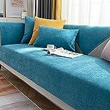 Fsogasilttlv Funda Sofa Azul Cielo 110 * 180 cm, Fundas de sofá...