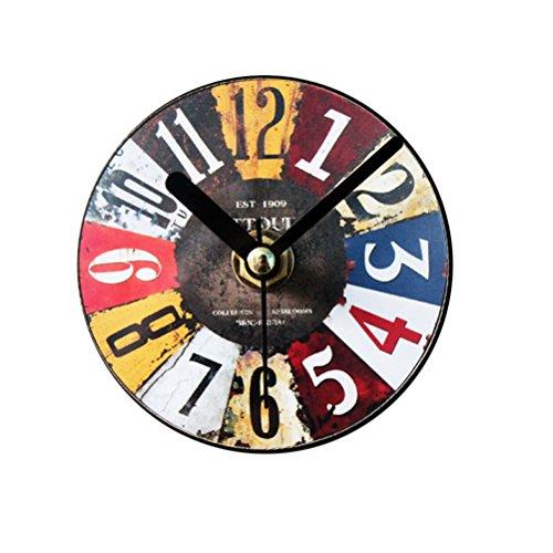 VORCOOL Réfrigérateur Manettes Rétro Cuisine Tableau blanc Aimants Réfrigérateur Autocollant Bureau Aimants Antique Horloge Vintage Non Tic-tac Horloge Pendaison