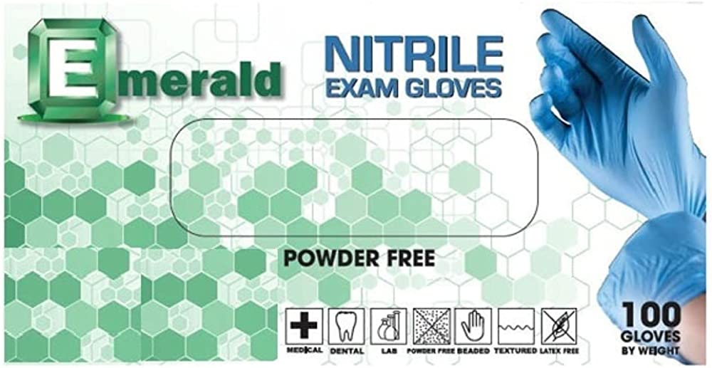 1000ct Elegant Emerald Nitrile Exam Gloves and Free Latex Medical Powder Super beauty product restock quality top