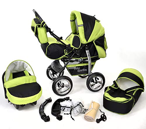Kamil, Classic 3-in-1 Travel System with 4 STATIC (FIXED)...