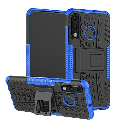 betterfon   Outdoor Handy Tasche Hybrid Hülle Schutz Hülle Panzer TPU Silikon Hard Cover Bumper für Huawei P30 Lite Blau