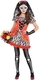Sugar Skull Senorita Child Costume - X-Large