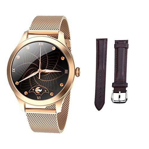 JXFF KW10PRO Smart Watch Ladies Contacto Completo Pulsera Monitor De Ritmo Cardíaco Monitoreo del Sueño Smartwatch Ladies KW10 Pro Es Adecuado para Android Y iOS,C