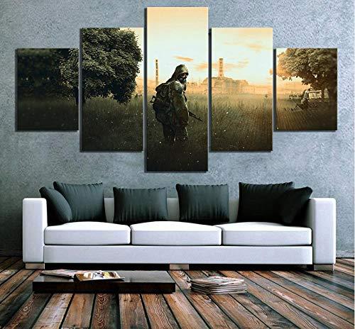 Jia Arte ™ Cuadros Modulares Wall Art Poster Hd Impreso 5 Scene Fantasy Canvas Home Decor Living Room Panel Escape From Tarkov 200 x 100 CM - 5 Fotos Impresas En Lienzo Pintura Arte De La Pared Mural