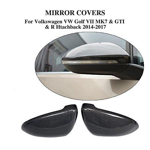 Direkter Ersatz Carbon Fasern Spiegel Cover für Golf VII GTI MK7GTI R Schrägheck 2014–2017