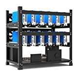 Open Mining Rig Frame for 12 GPU Mining Case Rack,12 GPU Rig Motherboard Bracket ETH/ETC/ZEC Ether Accessory Tool 3 Layers